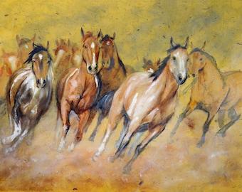433c0ae59 Wild Horses Yellow Background