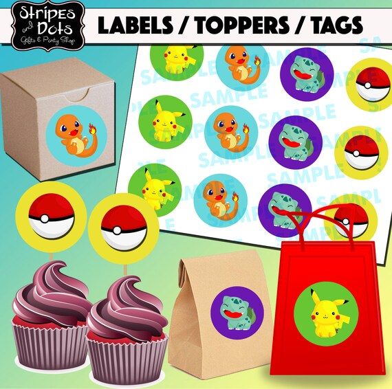 photograph about Pokemon Cupcake Toppers Printable named Printable Pokemon Cupcake Toppers-Pokemon Stickers-Pokemon Cupcake Toppers-Pokemon Occasion-PokemonFavors- Pokemon Tags-Pokemon Labels