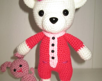 Bedtime bear, amigurumi, handmade, crochet toy, toy
