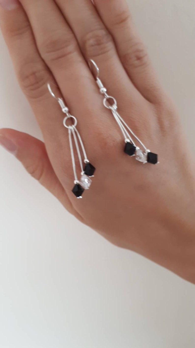 silver plated earrings Creative handmade earrings handmade short earrings gift idea