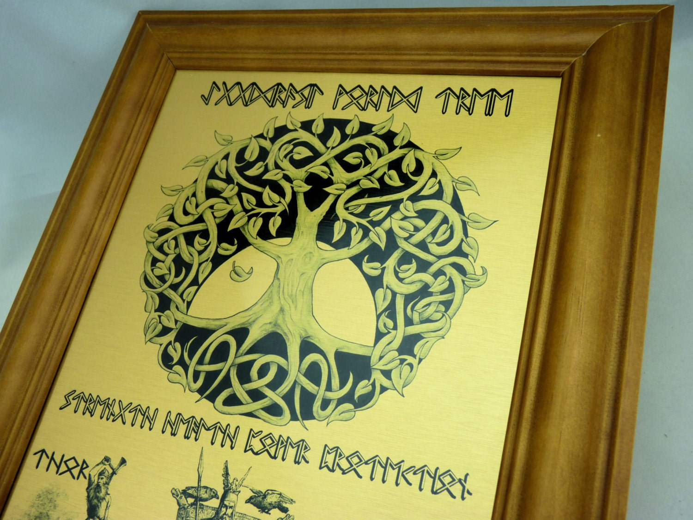 Rune Viking Yggdrasil World Tree WALL ART Odin Thor &   Etsy