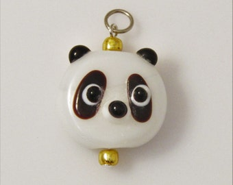 Panda Lampwork Glass Pendant