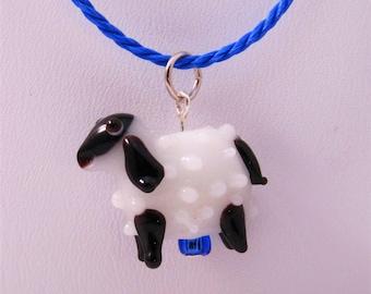 Sheep Lampwork Glass Pendant