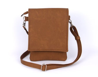 Brown Cell Phone Bag Mothers Day Gift Cell Phone Purse Small Crossbody Bag Iphone Bag Cell Phone Pouch Small Travel Bag Cell Phone Wallet