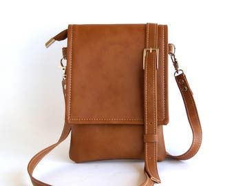 3fc0ae4f59 Brown Cell Phone Bag Mothers Day Gift Cell Phone Purse Small Crossbody Bag  Iphone Bag Cell Phone Pouch Small Travel Bag Cell Phone Wallet