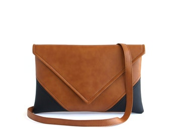 cab828e59ac Vegan Leather Crossbody Bag Black Unique Gifts for women Gift Brown Small Cross  Body Bag Small Crossbody Purse Vegan Small Shoulder Bag