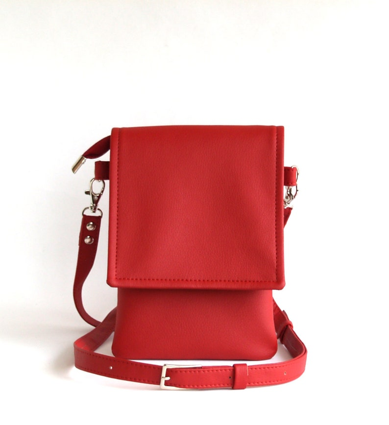 0e4abe007b Red Cross Body Bag Vegan Leather Crossbody Bag Womens Gift