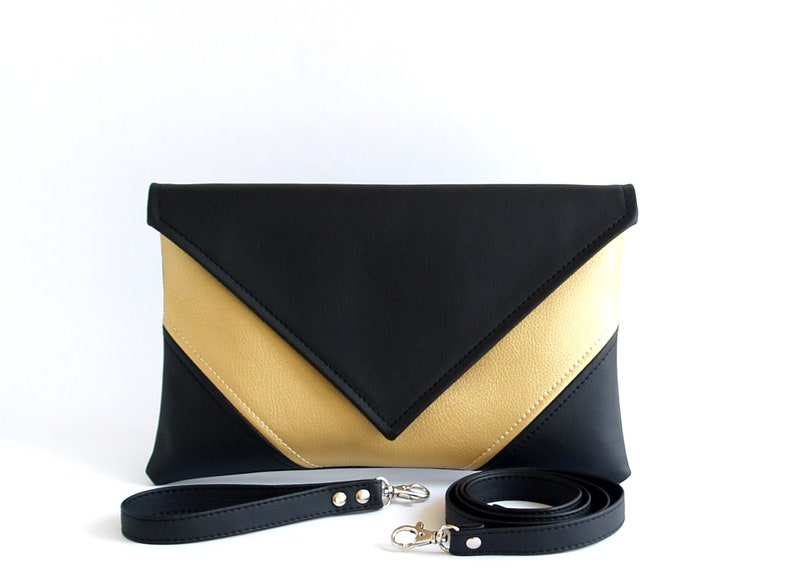 ca139206fb37 Gold Clutch Bag Unique Gifts For Women Vegan Leather Clutch