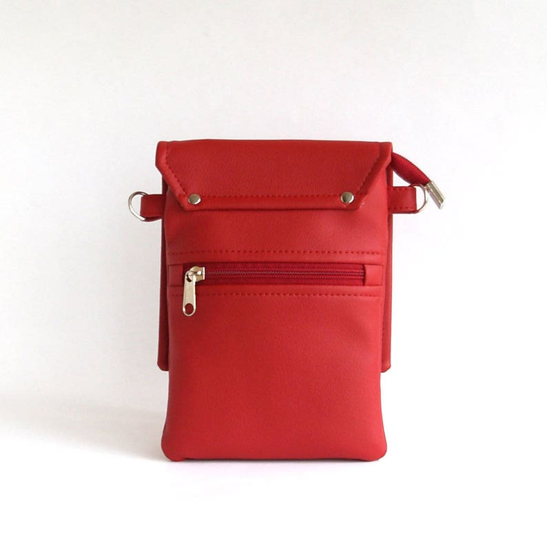 Small Crossbody Bag Womens Gift For Her Red Crossbody Phone  7b80bd16a02c7