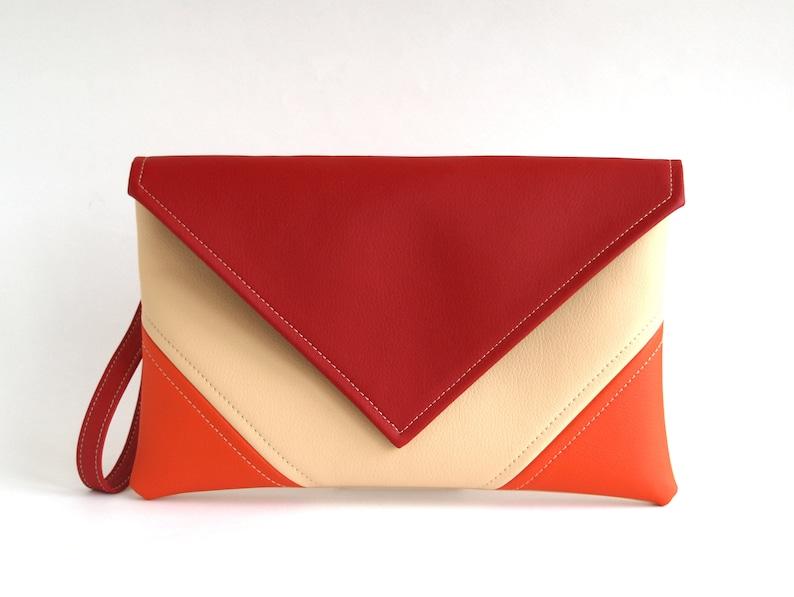 1f11f49905 Sac pochette rouge enveloppe pochette porte monnaie bourse | Etsy