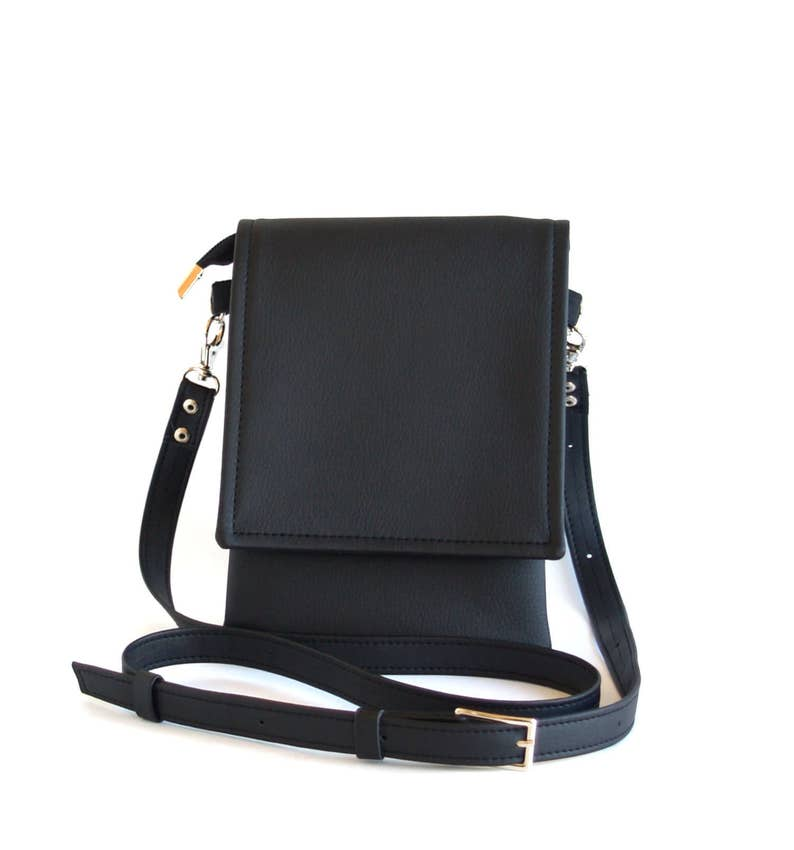 a3096296a236 Small Crossbody Bag Black Unique Gifts For Women Vegan Leather