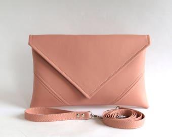 Pink Clutch Bag Wedding Clutch Purse  Bridesmaid Clutch Bridal Clutch Pink Purse Pink Bag Bridesmaid Bag Pink Evening Bag Envelope Purse
