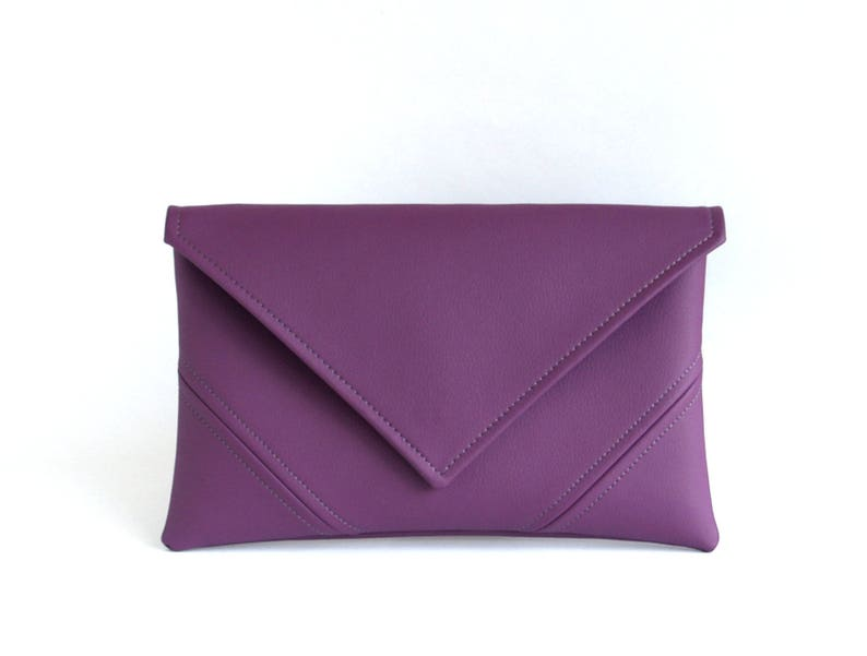 Purple Clutch Purse Clutch Bag Bridesmaid Clutch Gift For image 1