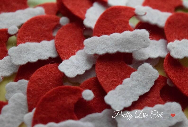 5be3e3c5d87e5 Felt Santa Hats Mini Red Father Christmas Hat Shapes Festive