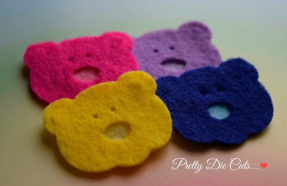 teddy bear faces made from felt colourful animal shapes etsy