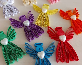 2 pcs. Quilling Angel , Quilling Art, Ornament Quilled, Paper Angel, Christmas gift, Christmas ornament, Home decor, Hanging decor,