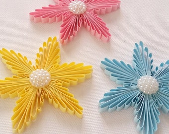 3pcs. Quilling snowflakes, Quilling art, Christmas ornament, Christmas tree decor, Christmas gift, Home decor, Wall hanging, paper decor