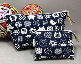Cat lover women gifts, cat makeup bag, Cat coin purse, Cat pouch, Zip pouch,gift under 15, Cat Lover, Neko, Teacher gift, Coworker gift