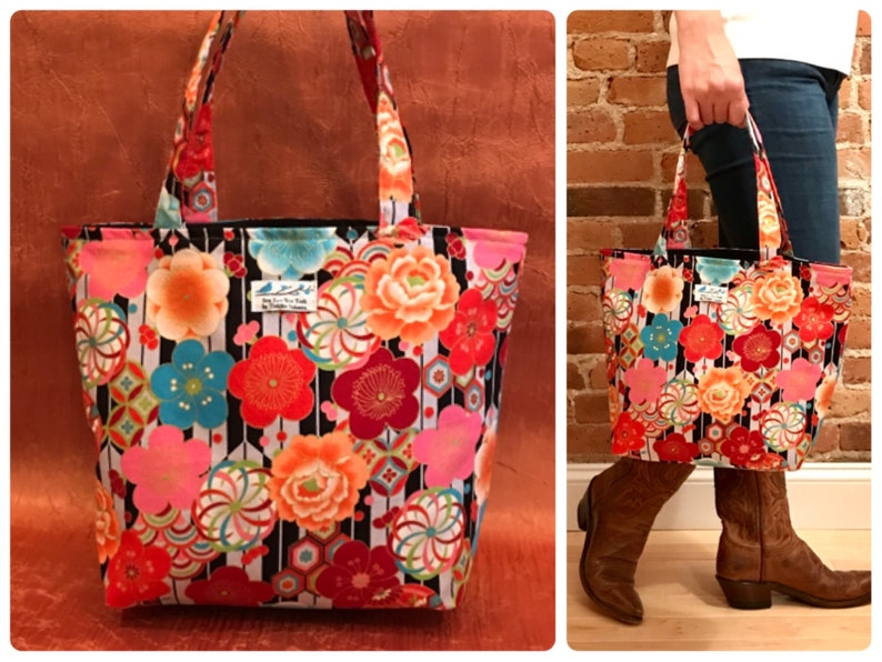 f51895576c7b Japanese Kimono tote purse Everyday Bag Market bagKimono
