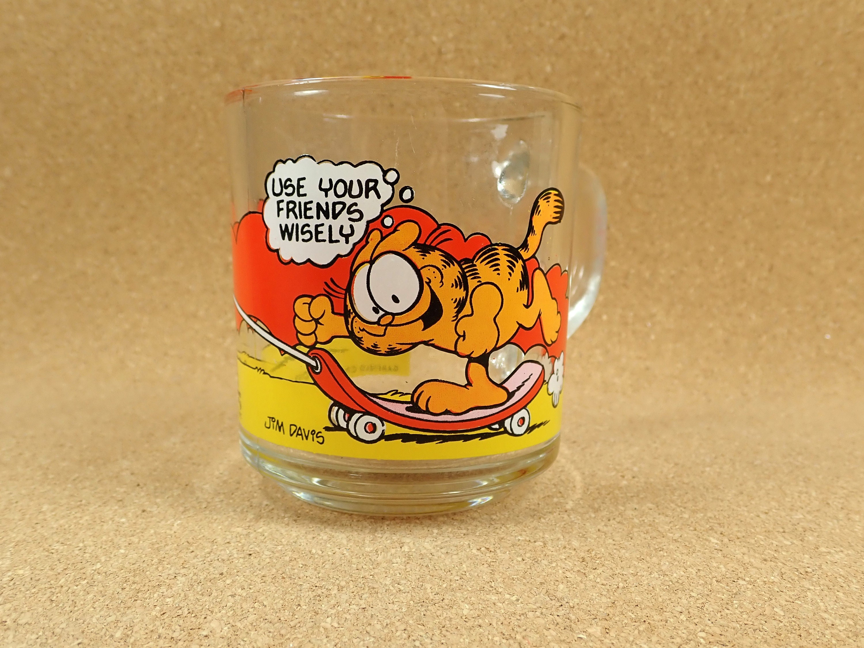 Vintage Garfield Characters Mcdonald S Mug Cartoon Etsy