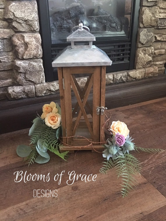 Wedding Centerpiece Lantern Decoration Candle Ring Vine Etsy