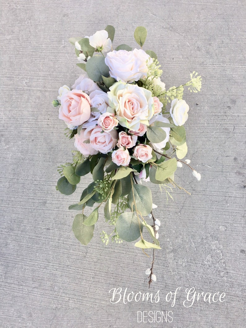 Blush Pink Brides Bouquets Pink Wedding Bouquet Pink Roses Etsy
