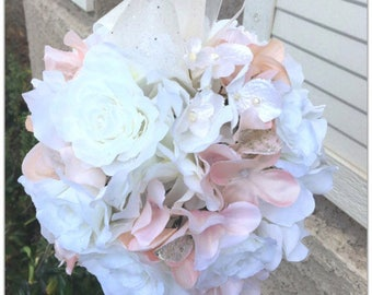Kissing ball, pomander, wedding flower girl, flower ball.