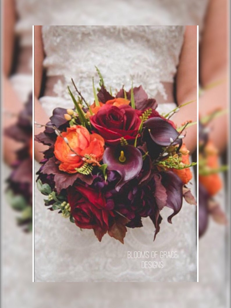 Fall Wedding Bouquets.Fall Wedding Bouquet Plum Wedding Flowers Autumn Bouquet