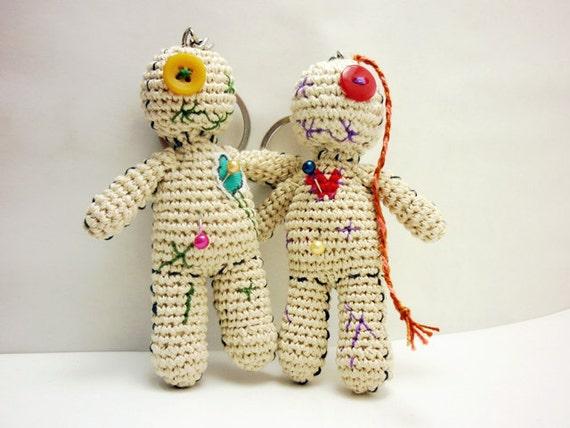 Voodoo Puppe Schlüsselanhänger Voodoo Puppe Häkeln Karneval Etsy