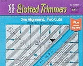 Clearly Perfect Slotted Trimmers by New Leaf Stitches Quilting Tool Notion Acrylic trimmers Kari Carr