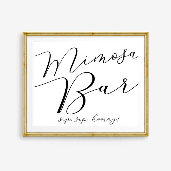 photo relating to Sip Sip Hooray Printable identified as Mimosa Bar Indication Mimosa Bar Printable Sip Sip Hooray Wedding day Consume Signal Marriage ceremony Print Marriage Printables Marriage Signage