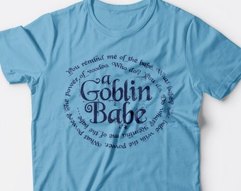 a Goblin Babe Women's Labyrinth t-shirt in Ocean Blue, Maroon, Heather Green, or Black