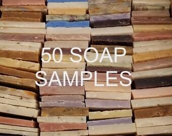 SALE 7 Pounds of Soap Ends, 50 Pieces, Soap Favors, Airbnb, Soap samples, Guest soap,Odd and Ends Soap,Soap Sampler, Bulk Soap, Natural Soap