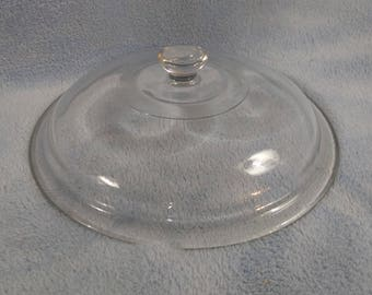 Vintage Rival Crock Pot Slow Cooker Glass Replacement Lid Clear Glass Round Stoneware Insert Cover
