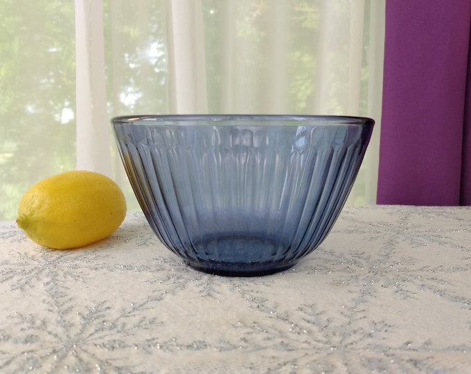 Pyrex Small Blue Ribbed  Mixing Bowl 3 Cup 2.5 Liter 7401- S Mixing Bowl Sets Replacement