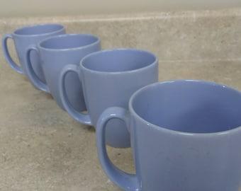 Corelle Light Morning Blue Stoneware Classic Design 10 Oz. Coffee Mugs Ceramic Cups Corning Corelle Coordinates