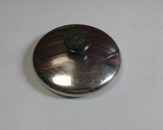 RevereWare 5 1/2 Inch Replacement Stainless Steel Lid Black Bakelite Knob