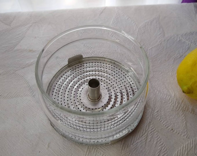 Pyrex Flame Ware Coffee Pot Percolator Glass Basket with Metal strainer Base (2 Pc.) Replacement