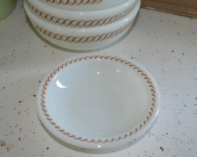 Pyrex Regency Heavy Restaurant Ware Replacement Small Berry Dessert Heavy Milk Glass Bowl 706 - 9  ~ Set of 10