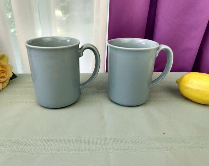 Corning Heather Light Blue Mugs Set of 2 Porcelain Stoneware Corelle Coordinates
