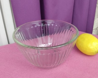Pyrex Small Clear Vertical Ribbed Mixing Bowl 3 Cup 2.5 Liter 7401- S Mixing Bowl Sets Replacement