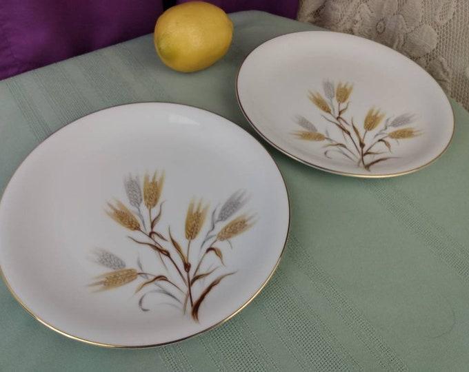 Noritake Wheaton 8 Inch Plates Salad Plates # 5414 Set Of 2  Fine China Japan Hand Painted Replacement Formal Dinnerware GrandesTreasures