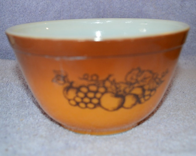 Old Orchard Brown Small Nesting Mixing Bowl 401 EUC