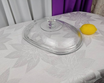 Oval Crock Pot Lid Rival Slow Cooker Oval Glass Replacement Lid Model 3745 3755 3756 3760 Domed Vintage All Glass