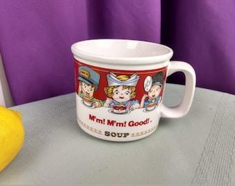 Campbell's Soup Career Mug Cup Nurse Fireman Construction Worker Train Conductor Policeman Mail Man Westwood 1993 Graduation