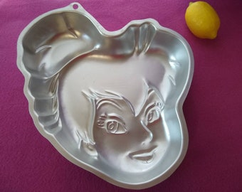 Tinkerbell Disney Fairy Wilton Cake Pan 2105-5110 Aluminum Girls Birthday Bakery Supplies Do It Yourself Peter Pan Toddler Birthday