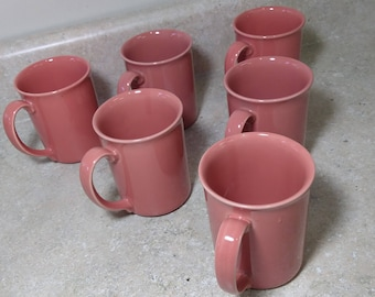 Corning Coordinates Coral Stoneware Salmon Melon Rose Peach Ceramic Coffee Mug Cup
