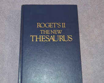 Roget's II Hardcover Thesaurus The New Thesaurus Hardcover Book C 1980 No Dust Jacket College Library Writing Supplies
