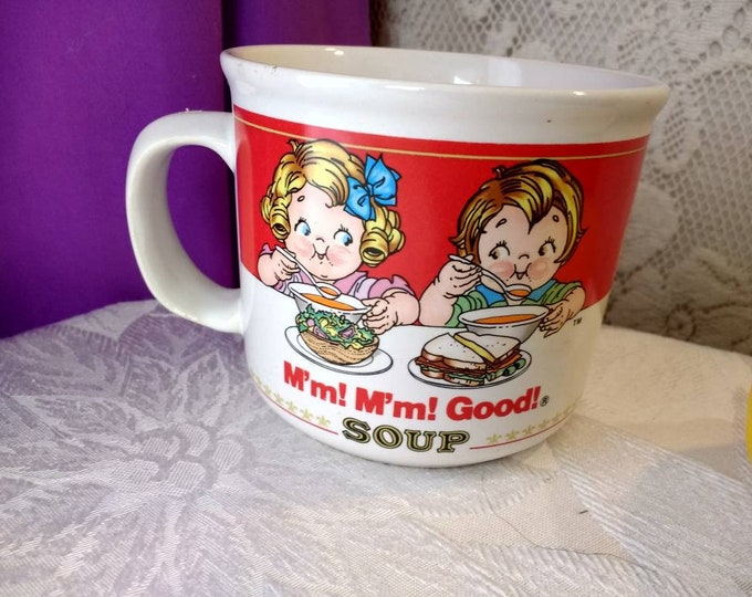 Cambell's Soup Mug M'm! M'm! 1989 Good Boy & Girl Ceramic Collectors Coffee Cup