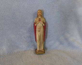 Sanmyro Japan Sacred Heart Jesus Bisque Figurine Porcelien Ceramic Religious Holy Father Statuette